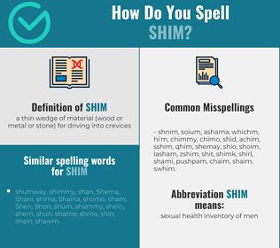 Correct spelling for shim