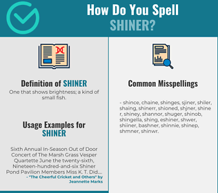 Correct spelling for shiner