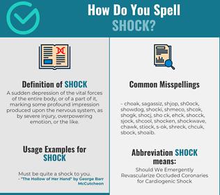 Correct spelling for shock
