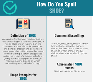 Correct spelling for shoe