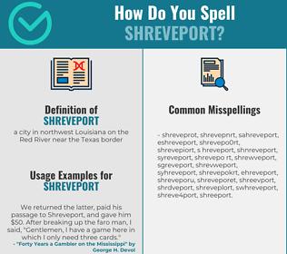 Correct spelling for shreveport