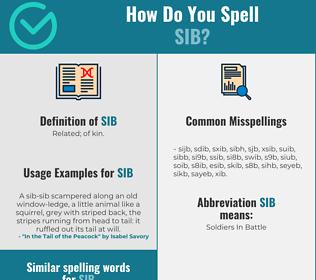 Correct spelling for sib