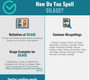 Correct spelling for silage
