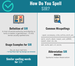 Correct spelling for sir