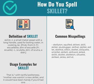 Correct spelling for skillet