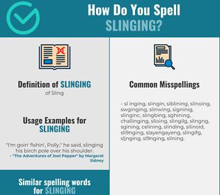 Correct spelling for slinging
