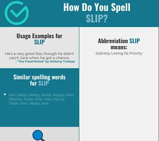 Correct spelling for slip