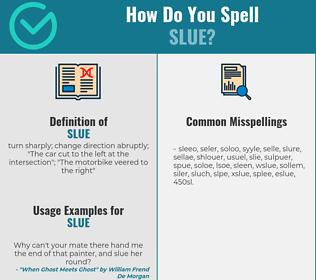 Correct spelling for slue