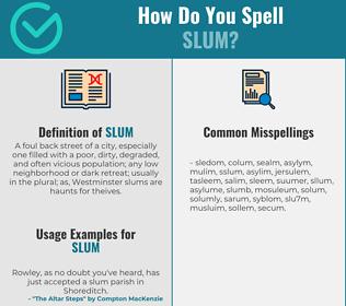 Correct spelling for slum