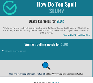 Correct spelling for slur