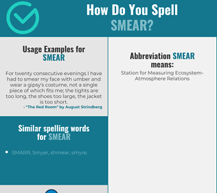 Correct spelling for smear