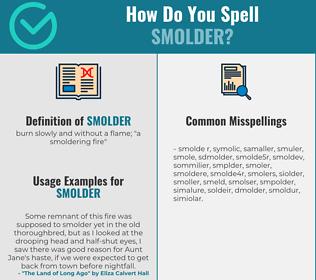 Correct spelling for smolder