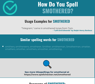Correct spelling for smothered