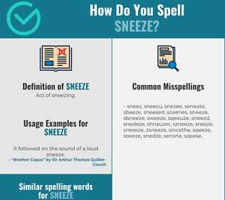 Correct spelling for sneeze