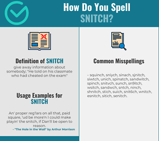 Correct spelling for snitch