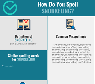 Correct spelling for snorkeling