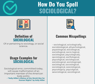 Correct spelling for sociological