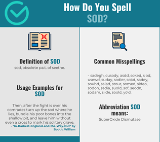 Correct spelling for sod