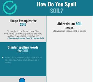 Correct spelling for soil