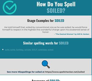 Correct spelling for soiled