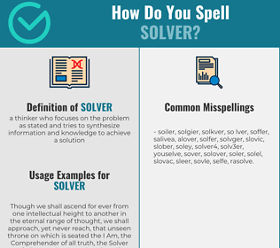 Correct spelling for solver