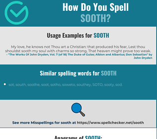 Correct spelling for sooth