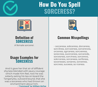 Correct spelling for sorceress