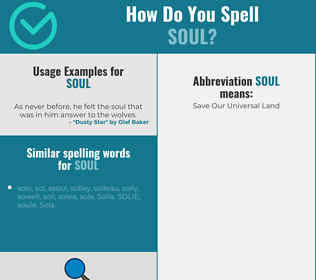 Correct spelling for soul