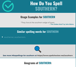 Correct spelling for southern