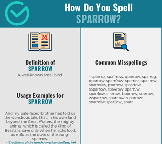 Correct spelling for sparrow