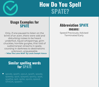 Correct spelling for spate