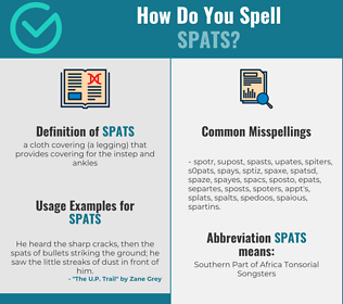 Correct spelling for spats