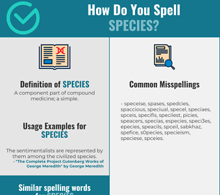 Correct spelling for species