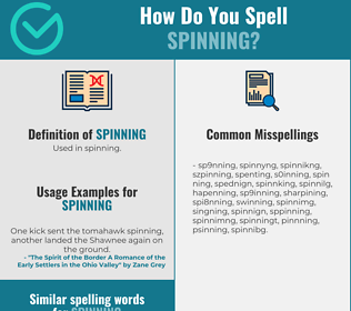 Correct spelling for spinning