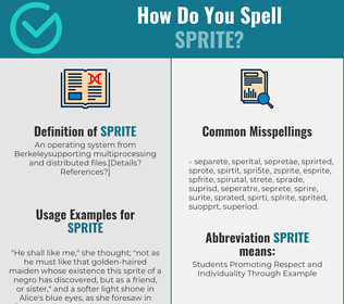 Correct spelling for sprite