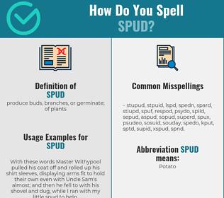 Correct spelling for spud