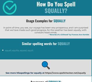 Correct spelling for squally