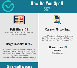 Correct spelling for ss