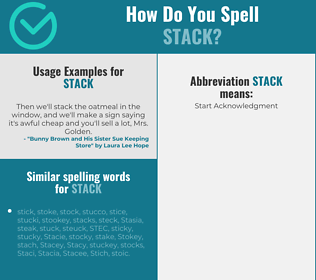 Correct spelling for stack