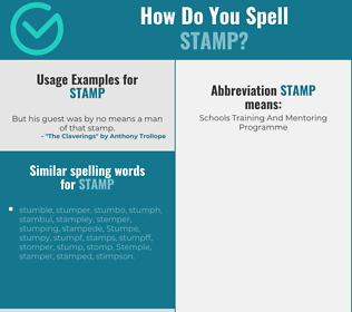 Correct spelling for stamp