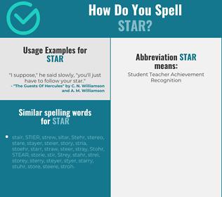 Correct spelling for star