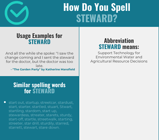 Correct spelling for steward