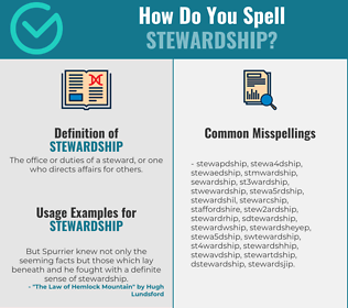 Correct spelling for stewardship [Infographic