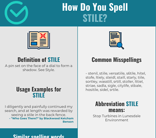 Correct spelling for stile