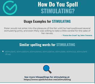 Correct spelling for stimulating