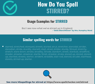 Correct spelling for stirred