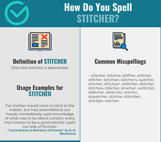 Correct spelling for stitcher