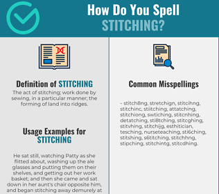 Correct spelling for stitching