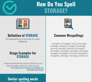 Correct spelling for storage