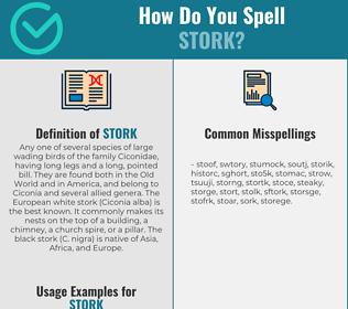 Correct spelling for stork